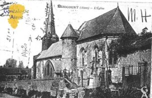 L'église (avec mesures ajoutées à la main) - Contributeur : A.Giffard