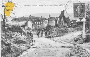 Grande rue et ancien débit Leroy - Contributeur : A.Giffard