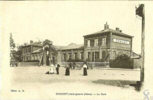 La gare avant-guerre - Contributeur : Françoise Portaz