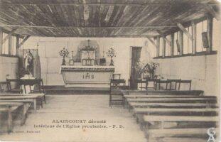 Intérieur de l'église provisoire - Contributeur : T.Martin