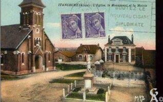 L'église, le monument et la mairie - Contributeur : T.Martin