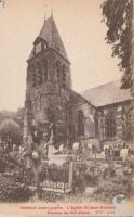 L'église avant-guerre- Clocher du XIIE s. - Contributeur : T.Martin