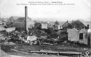 Ferme incendiée 1901 - Contributeur : Danièle Oudin