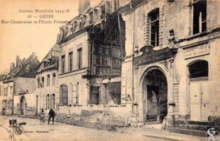Guerre 14-18 : Rue Chantraine et l'école primaire - Contributeur : A.demolder
