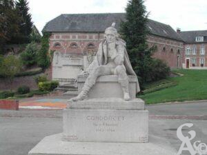 Statue du marquis de Condorcet-Photo : G.Destré
