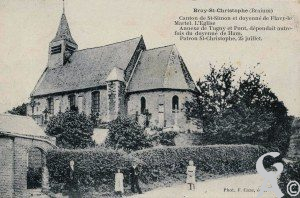 L'église - Carte postale de la collection de Chantal Burlot
