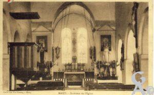 Intérieur de l'église en 1934 - Sylvain Sosson