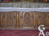 L'église - Détail de sculpture de l'autel