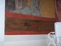 L'église - Fresque d'Emile Flamant