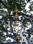 La maison Pommery - Grille d'entrée : monogramme des Joly de Bammeville