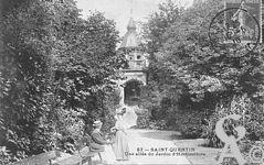 Le Palais de l'horticulture dans le passé - Une allée du jardin d'horticulture