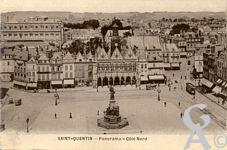 La Place de l'Hôtel de Ville dans le passé - Panorama - côté Nord