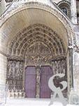 La cathédrale - Portail du Couronnement de la Vierge.