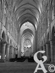 La cathédrale - La nef en direction du choeur
