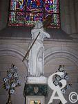 La cathédrale - Une statue