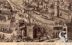 Les documents anciens - Saint-Quentin pris d'assaut - Estampe du temps.