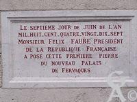 Le palais de Fervaques - Plaque commémorative