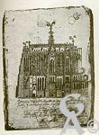 Les documents anciens - Vue de la basilique, dessin de Charles de Croy.