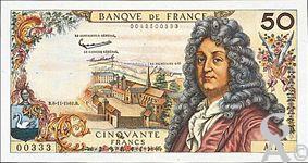 Jean Racine - 50 Francs  Racine  1962 - 1976 (recto)