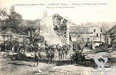 La guerre - 2éme Bataille de la Marne. Passage des troupes américaines.