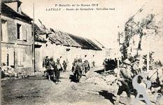 La guerre - 2éme Bataille de la Marne. Route de Grisolles.