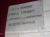 La collégiale Saint Laurent - Plaque commémorative