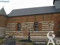 L'église - L'année de la reconstruction apparait sur le mur (non visible sur la photo)