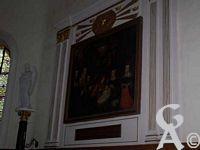 L'église d'Aisonville - Tableau réprésentant une Nativité sous les traits de la famille de Puységur
