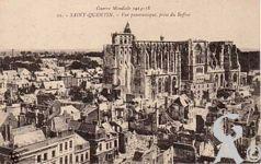 La Basilique en ruines - Vue panoramique prise du beffroi