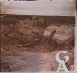 Pendant la Guerre - Abri allemand détruit.