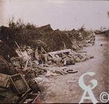 Pendant la Guerre - Prise de Courcelles sur Vesle, après la rafale.