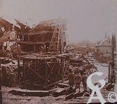 Photos pendant la Guerre - Génie au travail dans la ville de Ham (Somme).