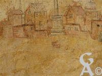 L'abbaye St Michel - Chacune de ces gravures exprime une étape de la vie de Saint Benoît toujours accompagnée d' un miracle qui se réalise au travers de sa personne.