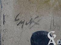 L'église - Signature du peintre