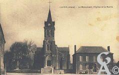 Le passé - Le monument aux morts, l'église, la mairie.