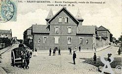 Les écoles dans le passé - école Paringault, route de Vermand et route de Fayet.