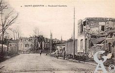 Les rues en ruines - Boulevard Gambetta