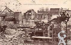 Les rues en ruines - Place Quentin De La Tour, après la guerre
