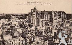 Les rues en ruines - Guerre mondiale 1914 / 1918 - vue panoramique prise du Beffroi