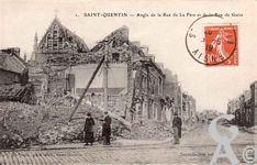 Les rues en ruines - Angle rue de la Fère et de la rue de Guise