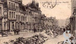 Les rues en ruines - La rue d'Isle - Mars 1919