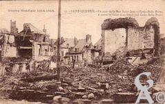 Les rues en ruines - Un coin de la rue Saint Jean et rue Croix Belle-Porte
