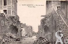 Les rues en ruines - Rue des Glacis - premier pont