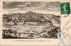 Les documents anciens - Vue panoramique - Saint-Quentin au XVIIè siècle.