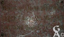 L'église - Morts au Champs d'Honneur - LOUET Adrien le 20 Mai 1917 et CONTANT Henri le 27 Septembre 1918.