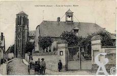 Dans le passé - école de garçons et Mairie en 1912.