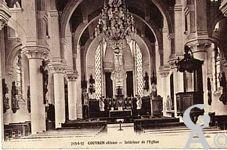 Dans le passé - Couvron - intérieur de l'église.