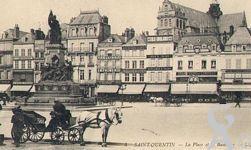 La Place de l'Hôtel de Ville dans le passé - Place de l'Hôtel de ville et la Basilique