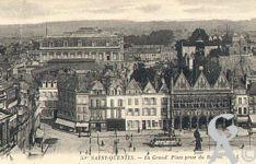 La Place de l'Hôtel de Ville dans le passé - La Grand' Place prise du Beffroi