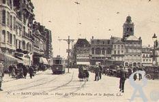 La Place de l'Hôtel de Ville dans le passé - Place de l'Hôtel de Ville et le Beffroi